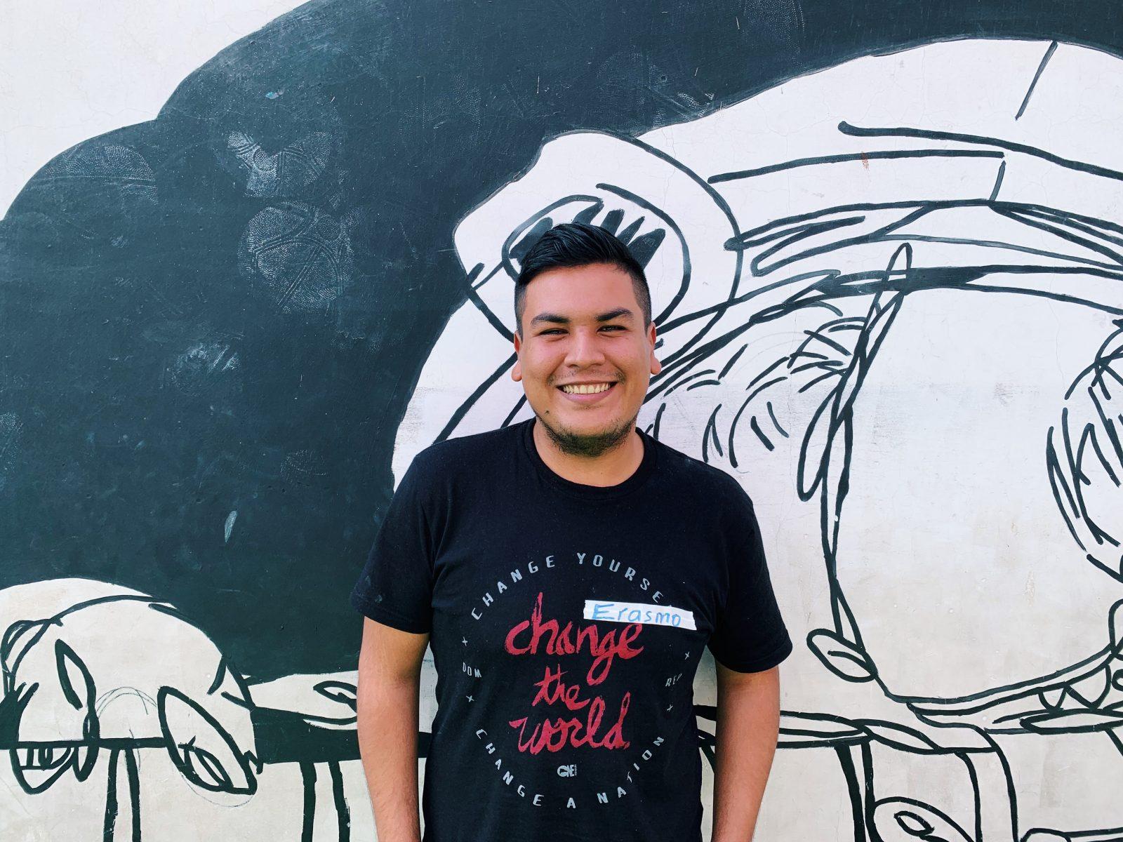 Erasmo flashing a smile between GOJoven Guatemala workshops.