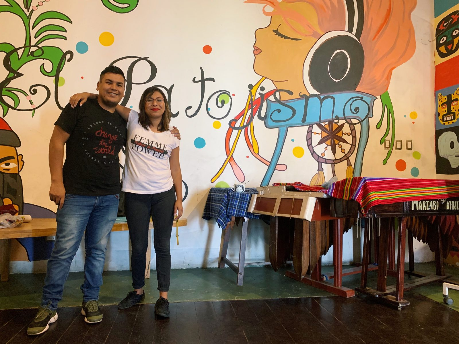 Erasmo and Joseline at a GOJoven Guatemala workshop.