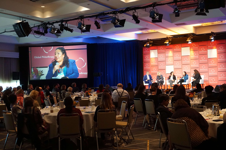 ASOGEN speaks at the 2019 Global Philanthropy Forum.