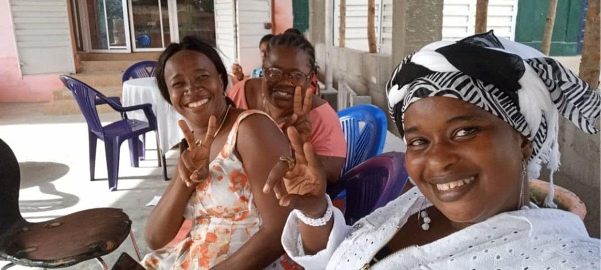 Veronica Fannah, Lilian Lahai, and Rassie Bah