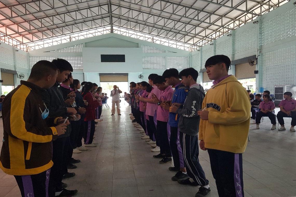 Young people participating in a Khiang Rim Khong program.