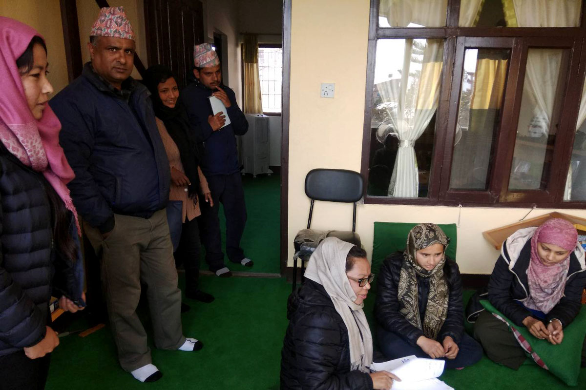 Community members visit a local government office with the support of Asha Nepal.
