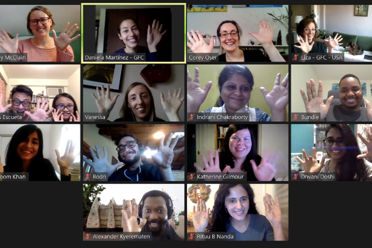 A screenshot of the end of the Zoom meeting.
