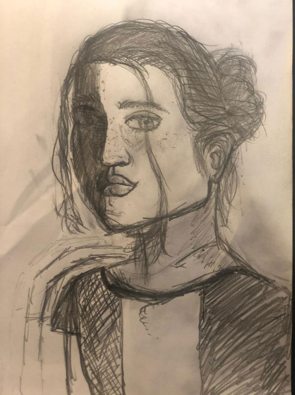 A self-portrait of a girl