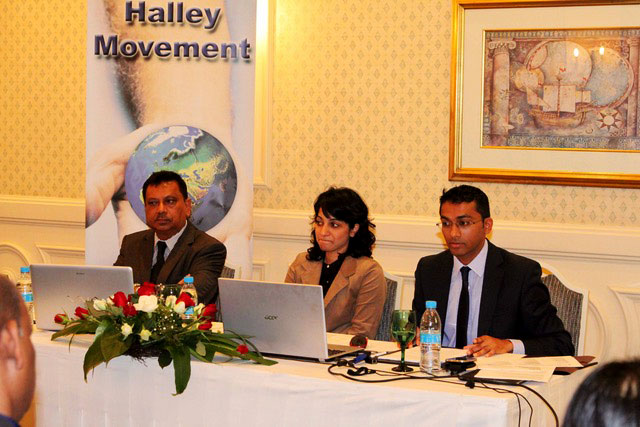 A Halley Movement press conference