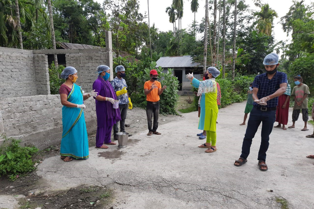 Rural Aid in India conducting an awareness drive in Assam