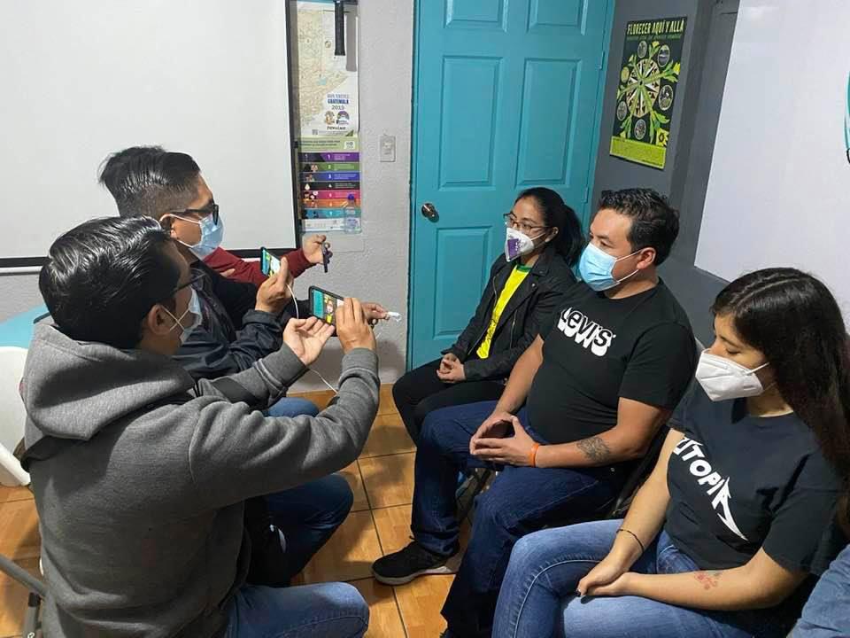 Local media from San Marcos, Guatemala, interviewing Jovenes por el Cambio and APIC Utopia