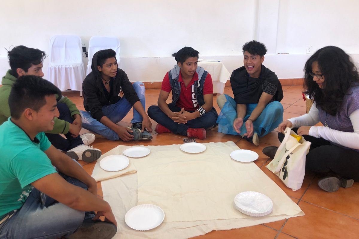 Young people participating in the Transnational Convening for Migrant Children and Youth, Chiapas, Mexico