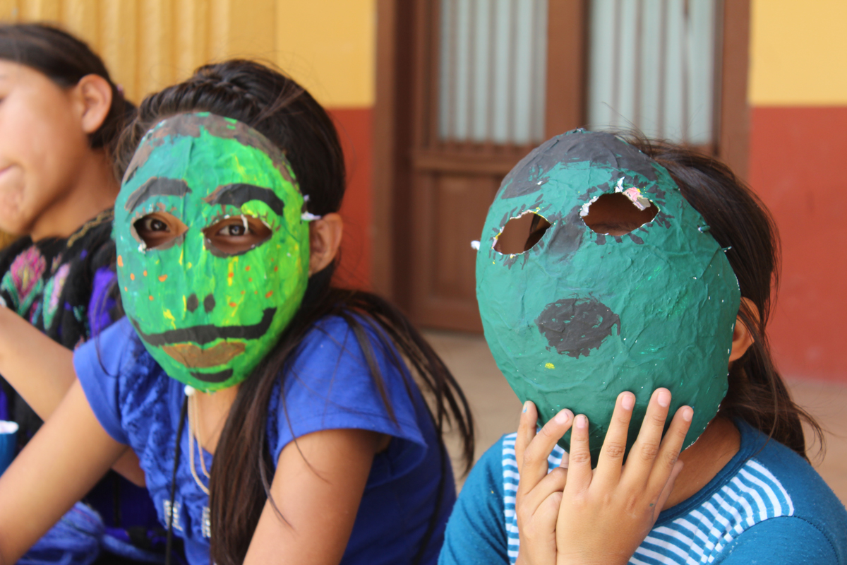 Making masks to reflect on gender identities in Chiapas, Mexico