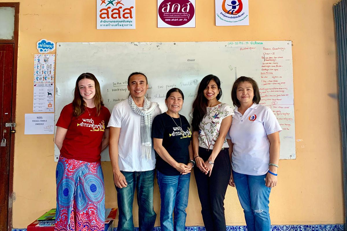 Kulsoom Khan visiting partners in Thailand.