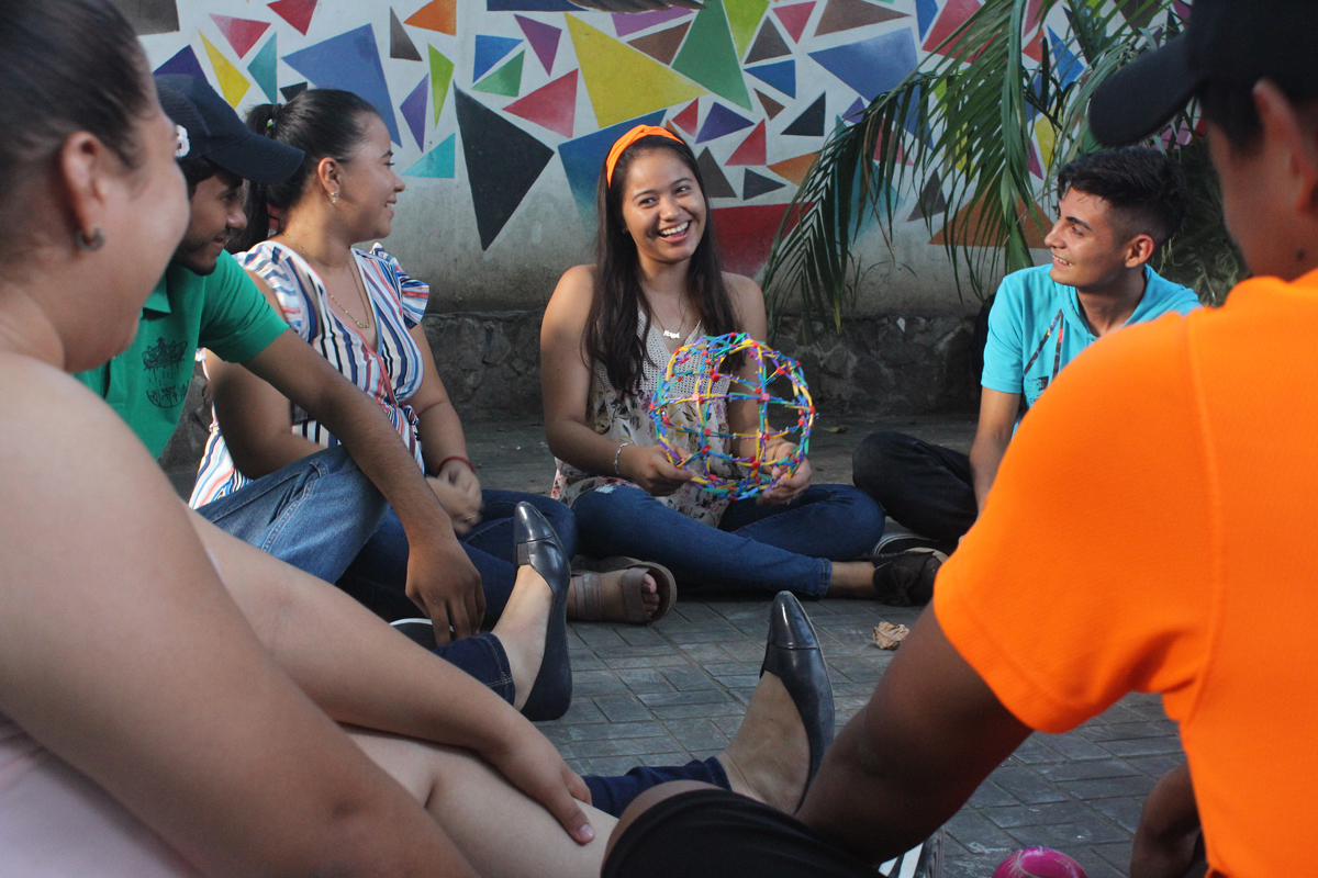 A youth circle facilitated by OYE