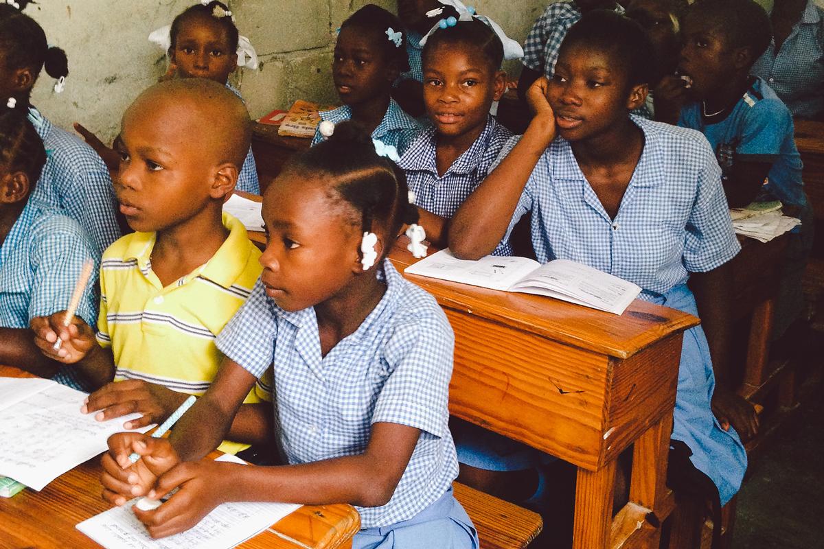 A classroom in Haiti.