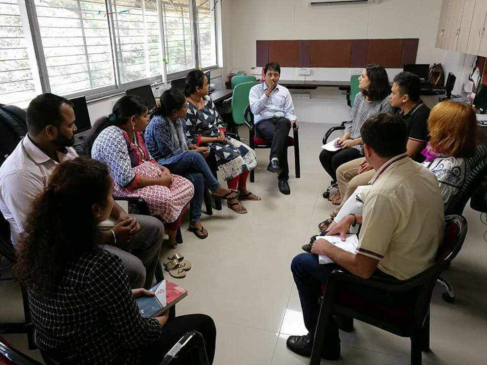 A visit to Arpan's office in 2017